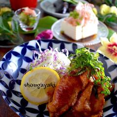 献立/夕飯/お味噌汁/酢の物/茄子の焼き浸し/冷奴/... こんばんは^ ^  今日の和歌山は晴天で…