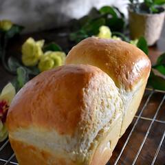 おうちパン/手作り食パン/朝ゴパン/パウンド型/食パン/豆乳/... お疲れ様です^ ^  今夜は蜂蜜豆乳食パ…