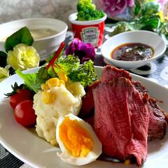 リミアな暮らし/野菜チャウダー/ローストビーフ/おうちカフェ こんばんは^ ^  今日のお休みは、オー…