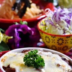 野菜サラダ/タラコスパ/ハヤシドリア/フォロー大歓迎 こんばんは^ ^今夜の夕飯です。  先日…