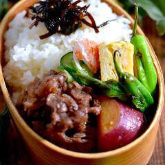 牛肉佃煮/リミアな暮らし/お弁当 こんにちは^ ^  今日も雨が降ったり止…