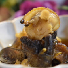 煮付け/つぶ貝/グルメ/フード つぶ貝の美味しい季節^ ^  私は貝類が…