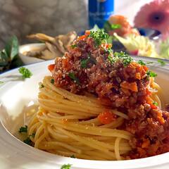 フォロー大歓迎/スパゲティー/ボロネーゼ/LIMIAFESTA こんばんは^ ^  今夜の夕飯です☘️ …