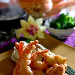ブロッコリーサラダ/お味噌汁/天ぷら/松葉蟹/食事情/フォロー大歓迎 こんばんは^ ^  皆様お疲れ様です^ …