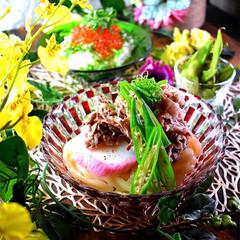 枝豆/夕飯/イクラ丼/冷やしうどん/肉うどん/おうちごはん こんばんは^ ^  息子は終業式でした^…