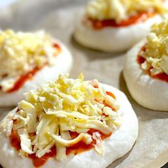 《冷蔵》 かけるチーズ かけちー 200g(その他チーズ、乳製品、卵)を使ったクチコミ「こんばんは^ ^  昨日焼いた ナポリパ…」(3枚目)