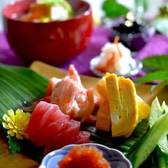 豚汁/食材整理/手巻き寿司/フォロー大歓迎 今夜の夕飯です^ ^  今日は手巻き寿司…