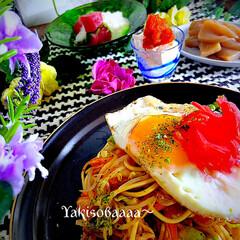 手綱蒟蒻/やまかけマグロ/トビコ豆腐/食材整理/夕飯/焼きそば こんばんは^ ^  今日の夕飯は、食材整…