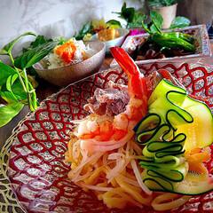 献立/夕飯/砂肝とししとうの塩炒め/しらす丼/厚揚げ旨煮/つけ麺 こんばんは^ ^  今日は一日雨の和歌山…