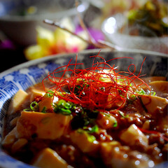 ほうれん草と玉子の中華スープ/春雨サラダ/麻婆豆腐/フォロー大歓迎 皆様こんばんは^ ^  今日の一日も暖か…
