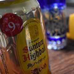 家飲み/角ハイ/最近のマイブーム 今夜はコレで乾杯^ ^  良き一日だった…