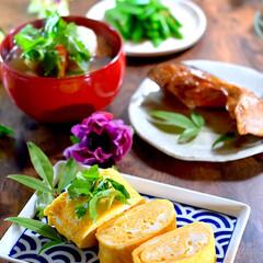 リミアな暮らし/献立/スナップえんどう/芋煮風煮物/紅鮭/だしまきたまご/... こんばんは^ ^ 今日の日中はポカポカ暖…