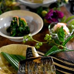 酢の物/ほうれん草ナムル/白菜と豚のあんかけ/リミアな暮らし/塩鯖/暮らし こんばんは^ ^  今日は日中ポカポカで…