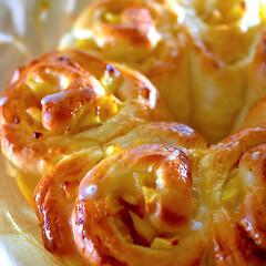 iwaki パイ皿 大小2点セット 電子レンジ・オーブンOK 耐熱ガラス イワキ グラタン皿 オーブントースター皿 ネコポス不可(皿)を使ったクチコミ「久しぶりのパン作り^ ^  バターが中々…」