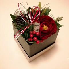 ハンドメイド/100均/お菓子の箱再利用/お正月アレンジ/お正月飾り/ボックスアレンジ お正月、和ボックスアレンジ