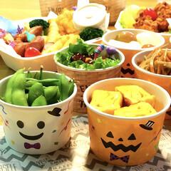 ハロウィン/お弁当グッズ/運動会お弁当/お弁当/フード/100均/... 我が家で2018年一番乗りの ハロウィン…