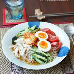 器/夏休み/食事/盛岡冷麺/ピビン麺/冷やし中華/... 暑くなってきたら、冷麺が食べたくなります…