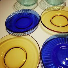 キレイだなぁ/ガラスの食器 今日 我が家にやってきた食器たち♪  こ…