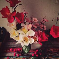 お正月アレンジ/お正月飾り/おうち/ハンドメイド/雑貨/100均/... お正月飾り✨ アレンジメントしてみました…(1枚目)