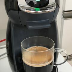 耐熱ガラス/コーヒー/ドルチェグスト/100均/ダイソー ダイソーで耐熱ガラスコップを発見👀✨ 2…