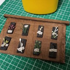 植物標本/ミニチュア/春のフォト投稿キャンペーン ミニチュア「植物標本」製作中♪