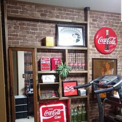ディアウォール/ディアウォール棚/コカコーラ瓶/コカコーラグッズ/コカコーラ/DIY/... DIYシリーズ♪ ディアウォールと2×4…