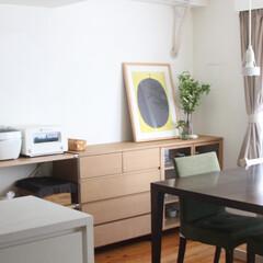 無印良品/ユニットシェルフ/オーク材の家具/住まい/暮らし/収納/... 令和になって買い替えた、ダイニングの収納…