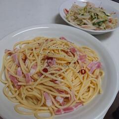 スタミナご飯 今日の夕飯、辛めのペペロンチーノとさっぱ…