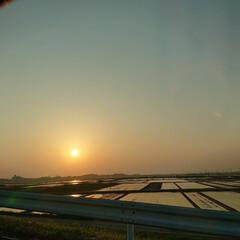 夕焼け/田植えの季節 この景色好きです☺️