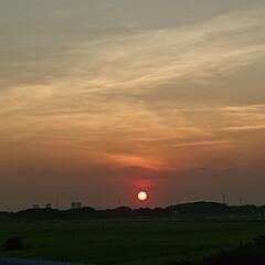 帰宅途中 綺麗な夕陽🌇