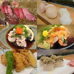 さんまの棒寿司/ふぐの唐揚げ/赤貝のお造り/白子ポン酢/旬の握り/大間のマグロ/... 昨夜は親友と楽しく美味しく飲んで食べてき…