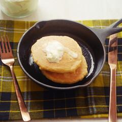 糖質制限/ローカーボ/パンケーキ 低糖質パンケーキ(1枚目)