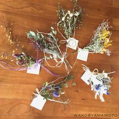 ドライフラワー/ドライフラワースワッグ/インテリア/雑貨屋さん/キャトルセゾン キャトルセゾン神戸にて wako#yam…