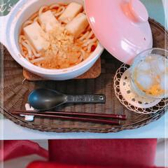 鍋焼きうどん/令和元年フォト投稿キャンペーン/令和の一枚/フォロー大歓迎/LIMIAファンクラブ/LIMIAごはんクラブ/... 今日のお昼。  今日はパパがお熱❓微熱で…
