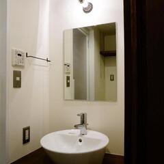 洗面台/造作 築31年のマンションリノベーション。 天…