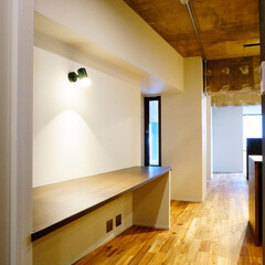 廊下 築31年のマンションリノベーション。 天…