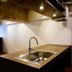 キッチン/造作 築31年のマンションリノベーション。 天…