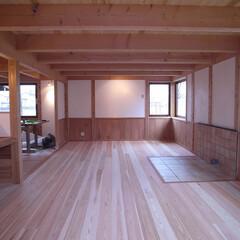 富山県産材/シンプル/杉板/檜/欅/木製サッシ/... 東中野のいえ