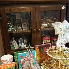 クリスマス/金のハート/カード/紙ナプキン/ミニハウス イタリア製のミニキャビネットにヨーロッパ…