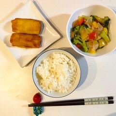 料理練習中/ニムキッチン 12月15日の旦那さんの夕飯セットです。