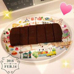 スイーツ/チョコレートケーキ/チョコケーキ/チョコレート/チョコ/バレンタイン/... 遅くなりましたが💦 バレンタイン第2弾で…
