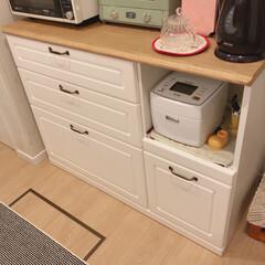 食器棚/東京インテリア/インテリア/家具/住まい/キッチン/... 家具の中で1番のお気に入り、食器棚です💕…