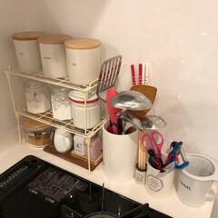 100均/キャンドゥ/白のキッチン/白いキッチン/ダルトン/ニトリ/... 我が家のキッチンを少しずつ写真に載せてい…