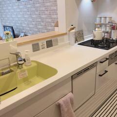 リクシルキッチン/LIXILキッチン/リクシル/LIXIL/ソープボトル/ケトル/... 我が家のキッチン☆ ほとんどが白いので、…