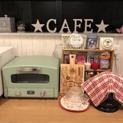 アラジン/カフェ風キッチン/カフェ風/salut/サリュ/3COINS/... 我が家のキッチンのカフェコーナー🍩☕∗*…