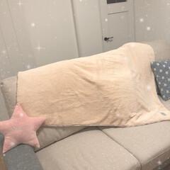 白いお家/リビング/ミニクッション/300均/coucou/東京インテリア/... ソファーを夏に買い換えまして、それからは…