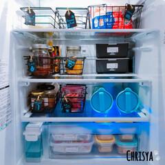 収納/冷蔵庫/Chrisya うちの冷蔵庫収納を チラッとご紹介です│…