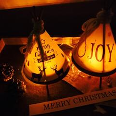 クリスマス/ティピーテント/ランプシェード/割り箸 クリスマスにもぴったりなティピーテント風…
