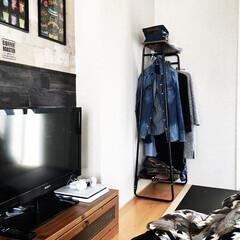 ブラック市松畳/アイリスオーヤマ/DIY/雑貨/100均/セリア/... ブラック市松畳で両サイドは家具が置けるよ…
