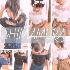 春物/子供服/しまむら/ももたくママ/ファッション しまむら子供服の春物が可愛すぎる─==͟…